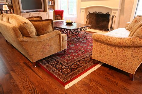 rug in living room oriental red rug design for living room decofurnish