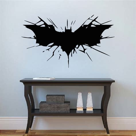 Lettering Stickers For Walls bat wall decal large boys bedroom wall designs hero