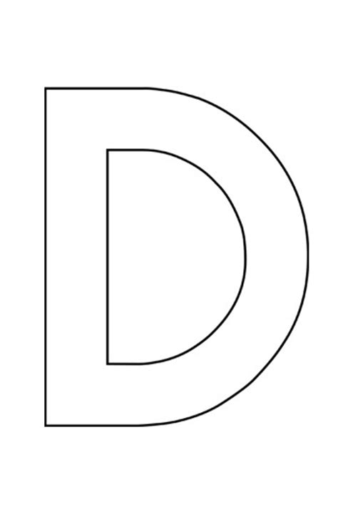 capital letter d template images templates design ideas