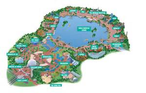 disney parks epcot map and epcot photos orlando