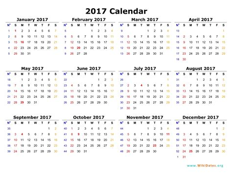 Recent Calendar 2017 Templates Worldnewsinn Template For 2017 Calendar