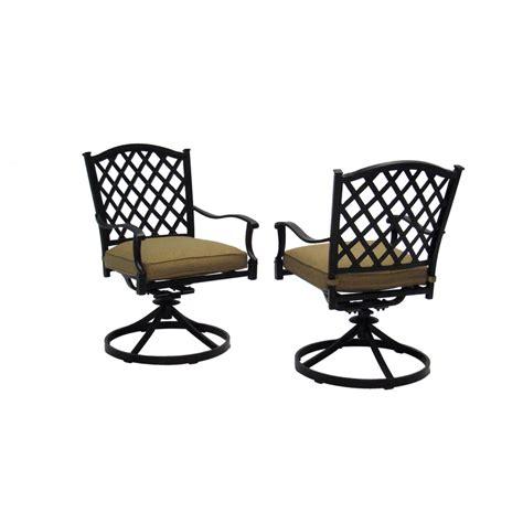 Shop allen   roth Set of 2 Shadybrook Bronze Strap Seat