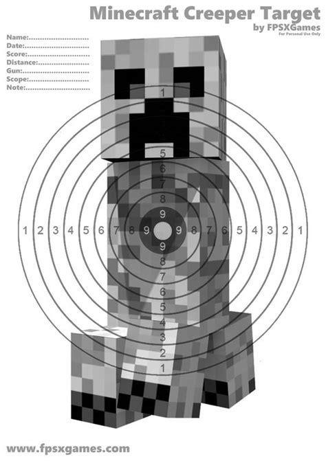 Target Minecraft Papercraft - printable minecraft creeper target minecraft