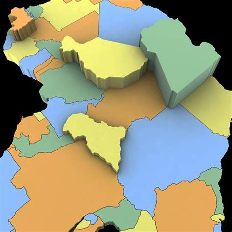 africa map 3d africa map 3d model max obj 3ds wrl wrz mtl tga cgtrader
