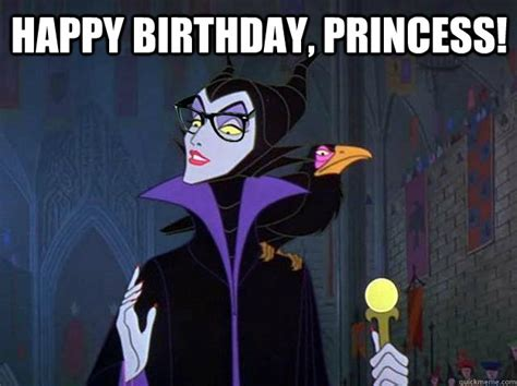 Birthday Princess Meme - happy birthday princess hipster maleficent quickmeme