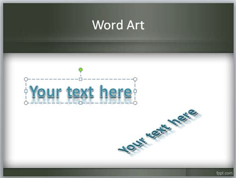 powerpoint presentation templates for art what is wordart feature in powerpoint