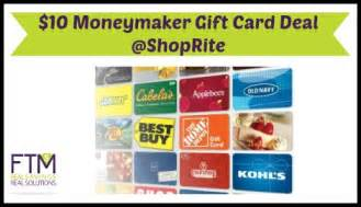 Shoprite Gift Card - shoprite 10 moneymaker gift card deal starting 10 2 ftm
