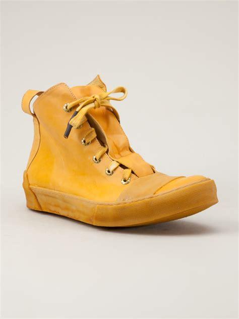 yellow sneaker lyst boris bidjan saberi bamba sneaker in orange for