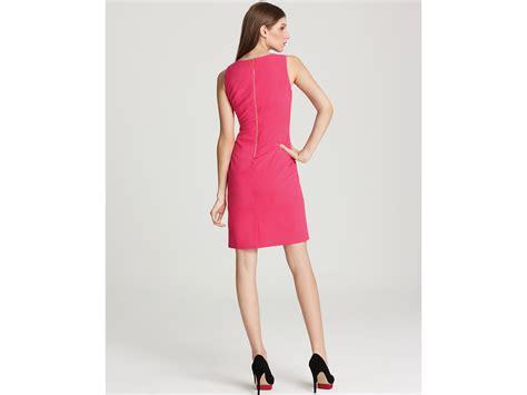 Zipper Dress Pink lyst calvin klein zipper dress in pink
