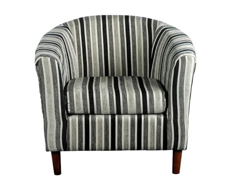 carey black and white striped tub chair uk delivery
