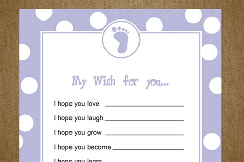 wishes for baby card templates 5 best images of printable baby shower wishes free