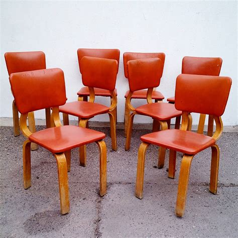 Brentwood Dining Chairs Original 1940 Thonet Bentwood Dining Chairs Set Of Eight At 1stdibs