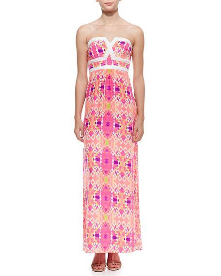 Veleria Maxi trixie valeria solid trim maxi dress