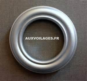 oeillet clipsable gris 40mm voilages et rideaux