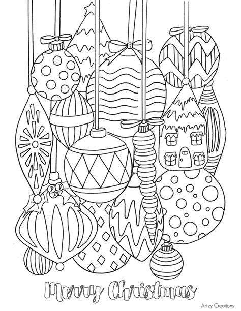 printable coloring pages christmas ornaments christmas ornament coloring pages coloring pages