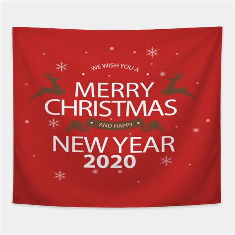merry christmas   happy  year  happy  year  gift tapestry teepublic