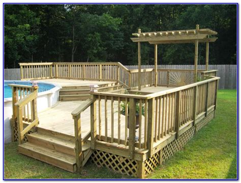 Pool Deck Plans by Above Ground Pool Deck Plans Pictures To Pin On
