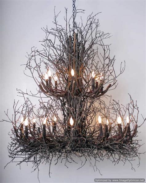 Twig Chandeliers Twig Chandelier The Phillips Branchelier Rustic Artistry