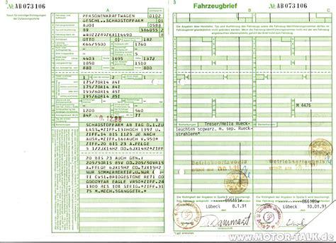 alter kfz brief stossd 228 mpfer an einer seite audi 80 90 100 200 v8 204329314