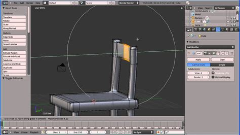 tutorial blender table blender 2 5 making a chair or table using the box model