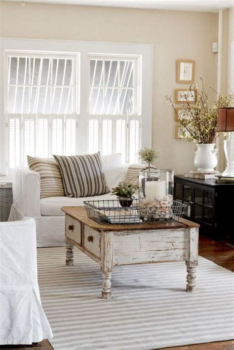 tables for living room ideas 26 charming shabby chic living room d 233 cor ideas shelterness