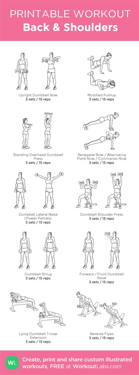 back shoulders my custom printable workout by