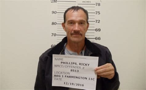 Albuquerque Inmate Records Ricky Phillips Inmate 8513 New Mexico Doc Prisoner Arrest