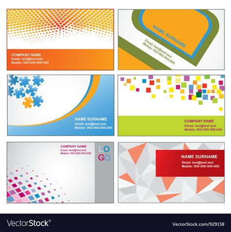 Business Card Templates Free Vector by Business Card Templates Royalty Free Vector Image