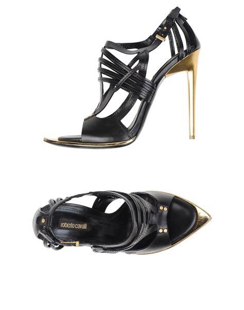 Sandal Wanita Vavali Black High Heels Vavali Sandal Wanita lyst roberto cavalli sandals in black