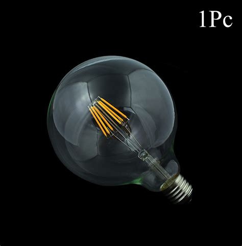 Large Led Light Bulbs 1x Dimmable Led Filament Bulb G125 G95 G80 Big Light Bulb 4w 10w Filament Led Bulb E27 Clear