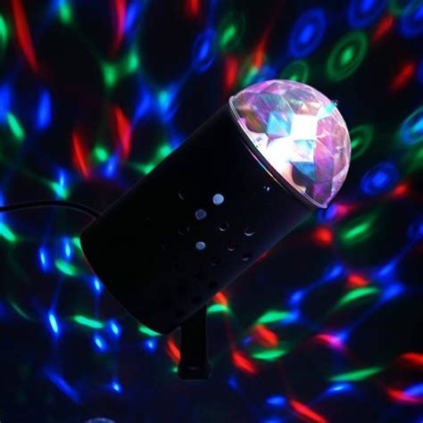 Spt04 Black rotating led mini disco stage spot light