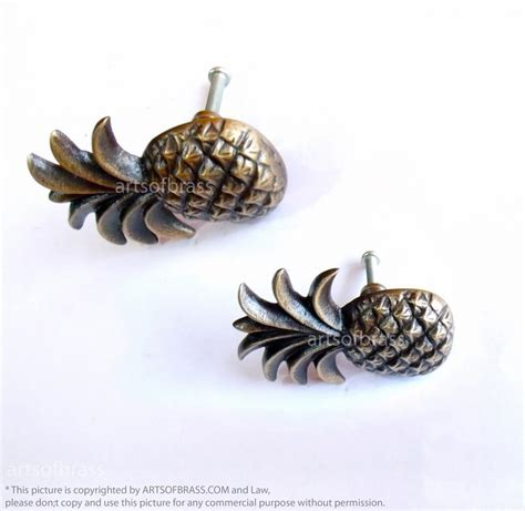 Pineapple Drawer Pulls by Lot Of 2 Pcs Vintage Pineapple Drawer Handle Brass Cabinet