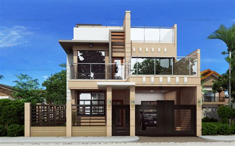 small house design phd pinoy designs home plans blueprints 5516 ricardo two storey modern with firewall phd ts 2016023