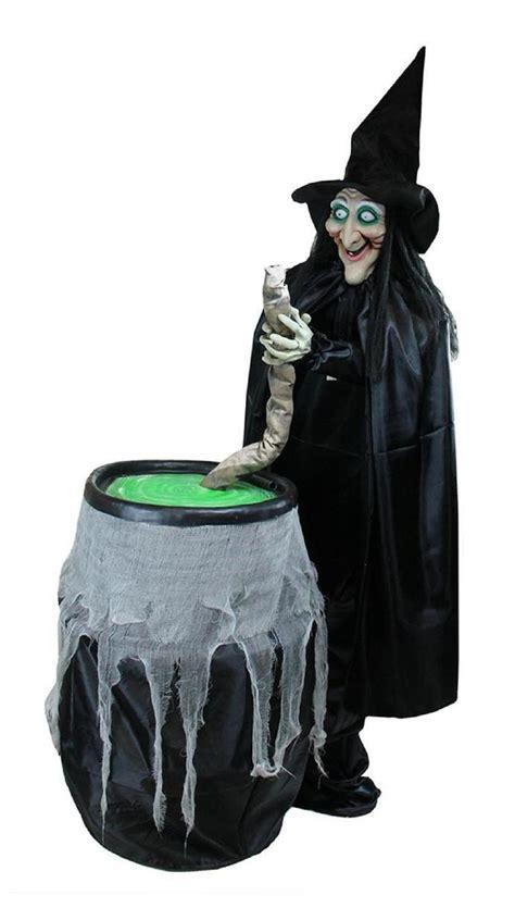 lighted witch  cauldron animated halloween