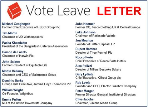 Business Letter Brexit Brexit Supporters List Of Business Falls Apart