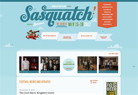 Event Web Page Design | 20 creative and inspiring event websites webdesigner depot