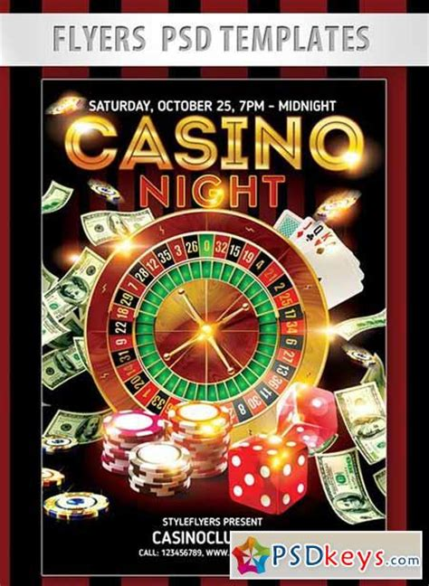 Casino Night Flyer Psd Template Facebook Cover 187 Free Download Photoshop Vector Stock Image Free Casino Templates