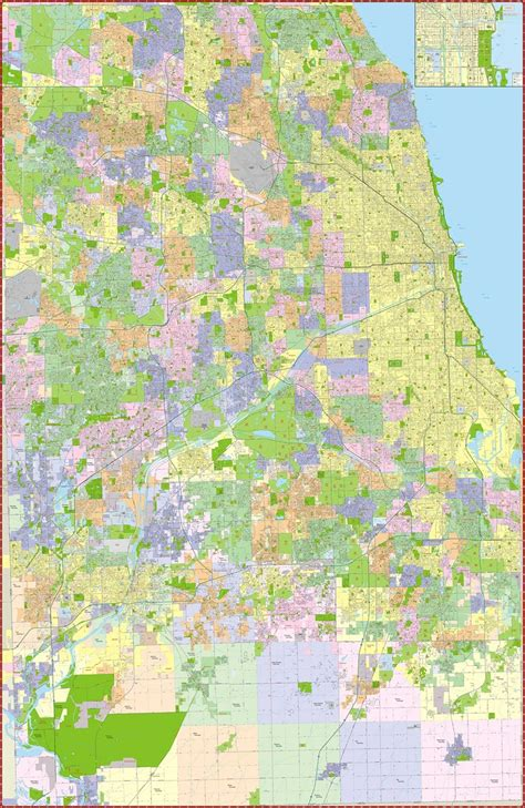 Records Cook County Il Themapstore Cook County Map Chicago Map Illinois