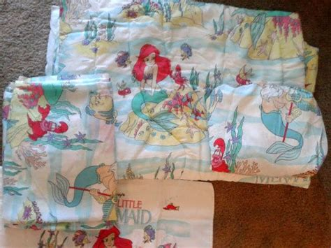 little mermaid bed set vintage 1990s the little mermaid twin size bed set
