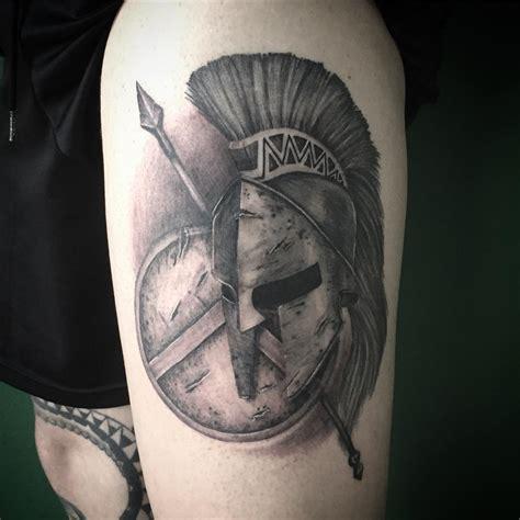 spartan shield tattoo designs spartan helmet shield and spear venice