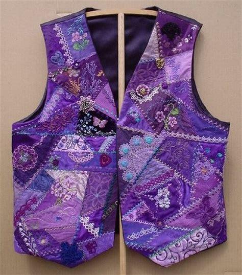 pattern quilted vest purplevest flickr photo sharing crazy quilting