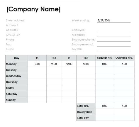 Excel Template Timesheet Excel Work Template Templates Free Sle Exle Format Free Excel Free Excel Timesheet Template With Formulas