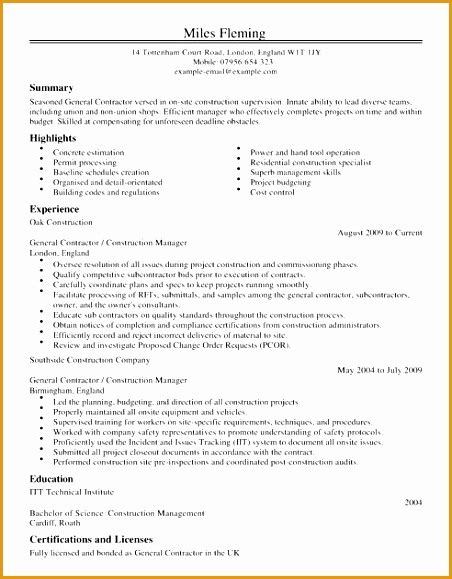 general contractor resume sles 7 customer service sales cv exles free sles