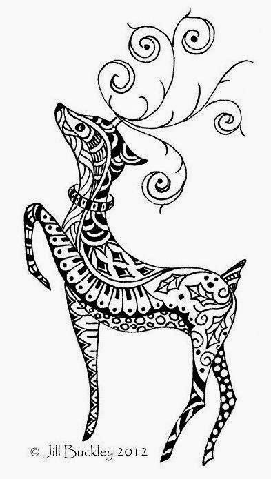 doodle draw reindeer раскраски для взрослых антистресс обсуждение на