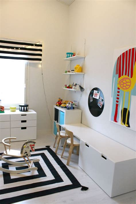 ikea kids storage bench kidsroom marimekko stripes ikea stuva black and