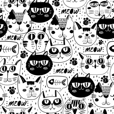 free cat background pattern black cat vectors photos and psd files free download