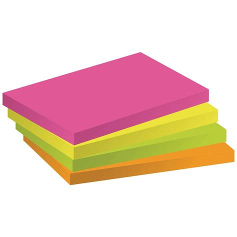 Post It Murah Sticki Notes staples stickies sticky notes pad 76 x 127 mm assorted rainbow colours package 12 x 100