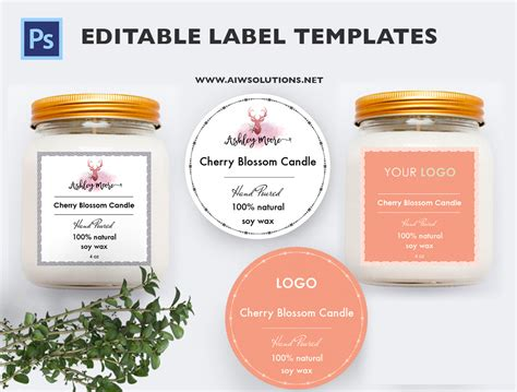 Hand Soap Label Template Id35 Aiwsolutions Candle Label Templates