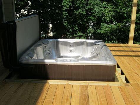 easily drop  spa   deck