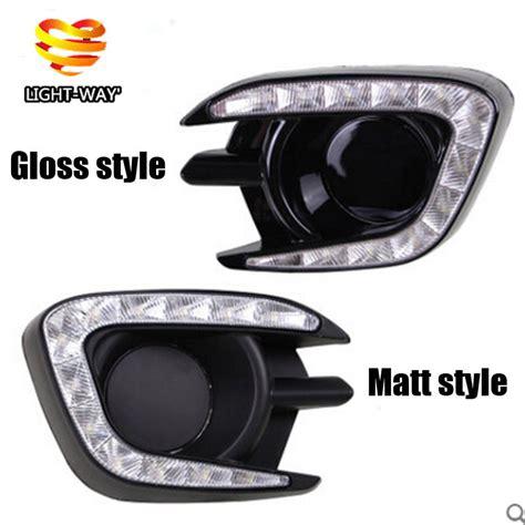Led Drl Fogl Cover Drl Fogl Khusus Pajero 2013 2015 matt or gloss style 12v led car drl daytime running lights with fog l for mitsubishi